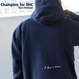 【14:00までのご注文で即日発送可能】 【販売数激少!!】 新品 ロンハーマン RHC Ron Herman x チャンピオン Champion NAVY ネイビー 紺 I have a dream Reverse weave Hoodie リバースウィーブ フーディー スウェット パーカー メンズ 新作