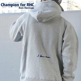 【14:00までのご注文で即日発送可能】 【販売数激少!!】 新品 ロンハーマン RHC Ron Herman x チャンピオン Champion GRAY グレー 灰色 I have a dream Reverse weave Hoodie リバースウィーブ フーディー スウェット パーカー メンズ 新作