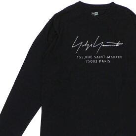 新品 ヨウジヤマモト Yohji Yamamoto x ニューエラ NEW ERA L/S Cotton Tee 長袖Tシャツ BLACK ブラック 黒 メンズ 新作