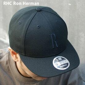 【2021年3月度 月間優良ショップ受賞】 [販売数激少!!] 新品 ロンハーマン RHC Ron Herman x ニューエラ NEW ERA 9FIFTY R CAP キャップ BLACK ブラック 黒 メンズ レディース 新作