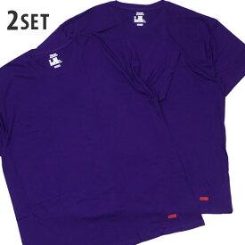 【2021年3月度 月間優良ショップ受賞】 新品 シュプリーム SUPREME x ヘインズ Hanes 21SS Tagless Tee 2-pack Tシャツ 2枚セット PURPLE パープル 紫 メンズ レディース 2021SS 新作 39ショップ