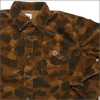 07a944974 Cliff Edge: A BATHING APE (APE) COLOR CAMO corduroy shirt   Rakuten ...