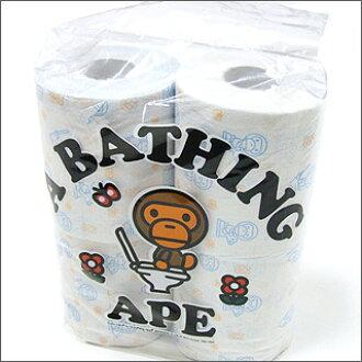 沐浴猿 (猿) 卫生纸设置 4 块