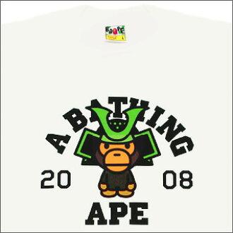 A BATHING APE (APE) 5 calendar T shirt WHITE.