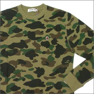 806b50dd7 Cliff Edge: A BATHING APE (APE) 1st CAMO thermal long sleeve T shirts GREEN  CAMO 202-000266-045   Rakuten Global Market