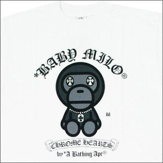 沐浴猿 (猿) x 铬心 (chrome) T 恤 TYPE1WHITE200-002636-020