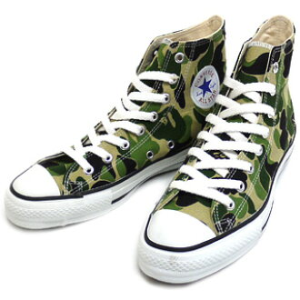 A BATHING APE x CONVERSE ALL STAR BAPE CAMO Hi COLOR:GREEN CAMO SIZE:26cm