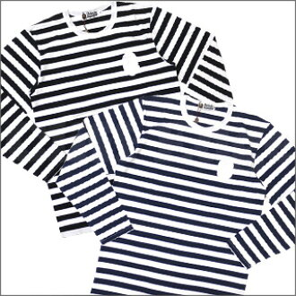 A BATHING APE (APE) HOOP border long sleeve T shirt 202-000382-057 [1810-111-001]-