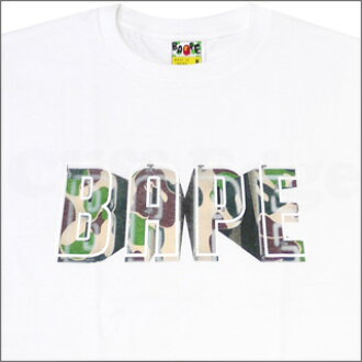 A BATHING APE (APE) BAPE NEON SIGN T shirts WHITE 200-003561-040-