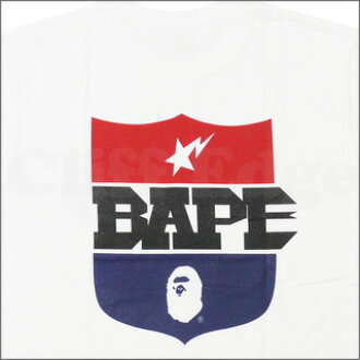 A BATHING APE (APE) BAPE SHIELD T shirt WHITE 200-004107-040 [1860-110-047]-