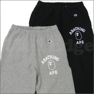 A BATHING APE (APE) CHAMPION sweatpants 243-000030-032-