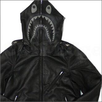 A BATHING APE (APE) SHARK RIDER's JACKET BLACK 230-000521-041-