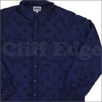 A BATHING APE(eipu)STA QUILT工作长袖子衬衫NAVY 216-000713-067[1860-140-014]-