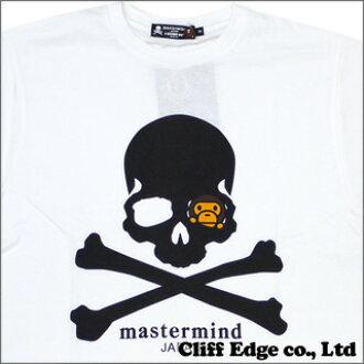 A BATHING APE(에이프) x mastermind JAPAN(마스터 마인드 재팬) SKULL x BABY MILO T셔츠#1 WHITE 100-009757-040+