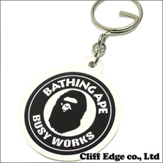 A BATHING APE (APE) novelty key ring WHITE 278-000318-010 +