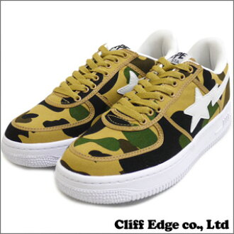 A BATHING APE 1ST CAMO CANVAS BAPE STA[鞋]YELLOW CAMO 291-001167-288[1930-191-008]-