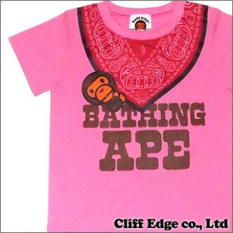 d93e7c200 Cliff Edge  A BATHING APE BAPE KIDS MILO BANDANA FAKE TEE PINK 200 ...