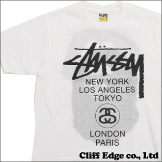 A BATHING APE x STUSSY BAPE WORLD TOUR TEE(T恤)WHITE 200-005679-030(1073-110-947)x