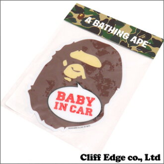 A BATHING APE(eipu)BAPE KIDS APE HEAD BABY IN CAR STICKER(汽车粘纸)BROWN 290-002913-016(1A30-382-620)-