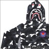 A BATHING APE CITY CAMO SHARK FULL ZIP HOODIE (shark) (sweat parka) BLACK 212-000875-041 (1A30-115-016)-
