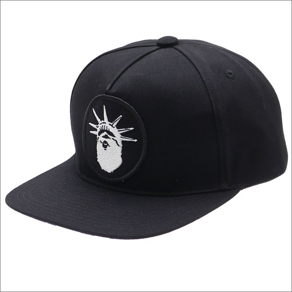 A BATHING APE (エイプ) NYC NY CAMO SNAP BACK CAP (キャップ) BLACK 1C70-180-003 250-000400-011-【新品】