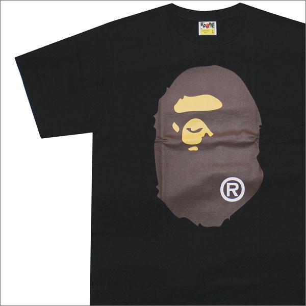 エイプ A BATHING APE BIG APE HEAD TEE Tシャツ BLACK 1C80110004 200007193051 【新品】