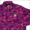 A BATHING APE (APE) xCarhartt ( Carhartt ) COLOR CAMO work jacket PURPLE