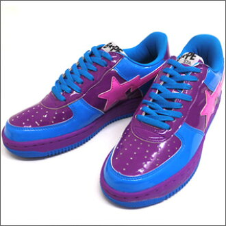 A BATHING APE (APE) SILVER SURFER BAPESTA BLUExPURPLE 191-002172-294 +