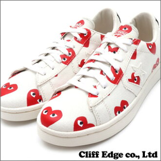 PLAY COMME des GARCONS x CONVERSE Heart Print Pro Leather Low WHITE 291-001323-320 +