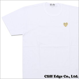 PLAY COMME des GARCONS プレイコムデギャルソン GOLD HEART ONE POINT TEE Tシャツ WHITExGOLD 200006748050 【新品】