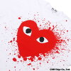 PLAY COMME des GARCONS (플레이 콤 데 걀슨) RED CELEBRATION HEART TEE (T셔츠) WHITE 200-006761-040 x