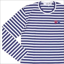 プレイ コムデギャルソン PLAY COMME des GARCONS 2HEART BORDER L S TEE 長袖Tシャツ NAVY 202000838057 【新品】