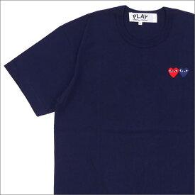 プレイ コムデギャルソン PLAY COMME des GARCONS 2HEART TEE Tシャツ NAVY 200007273057 【新品】