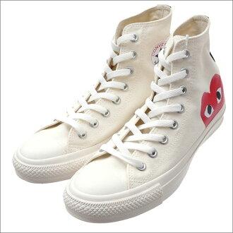 PLAY COMME des GARCONS(pureikomudegyaruson)x CONVERSE(匡威)ALL STAR HI/PCDG(全明星)(鞋)(运动鞋)WHITE 291-002210-260x