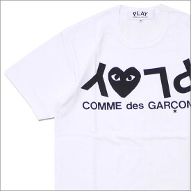 プレイ コムデギャルソン PLAY COMME des GARCONS MEN'S PLAY HEART LOGO TEE Tシャツ WHITE 200007757030 【新品】