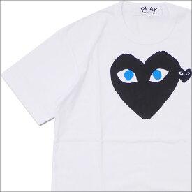 プレイ コムデギャルソン PLAY COMME des GARCONS MEN'S BLUE EYE HEART PRINT TEE Tシャツ WHITExBLACK 200007773030 【新品】