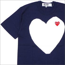 プレイ コムデギャルソン PLAY COMME des GARCONS MEN'S WHITE HEART RED WAPPEN TEE Tシャツ NAVY 200007774037 【新品】