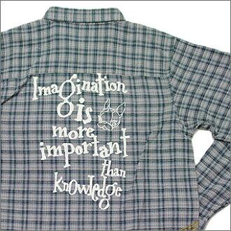 GARCIAMARQUEZ Garcia Marchez crystal ball re-maid flannel shirt Imagination  Logo BEIGE