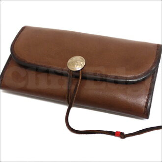 Goro's ( grows ) long leather wallet D.BROWN 271-000234-016 +