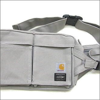 HEAD PORTER(脑袋搬运工人)xCarhartt(汽车心)NEW WAIST BAG SILVER