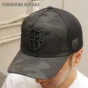 [バーニーズニューヨーク限定モデル] YOSHINORI KOTAKE(ヨシノリコタケ) 444ロゴエナメル CAMO メッシュキャップ (CAP) BLACK...