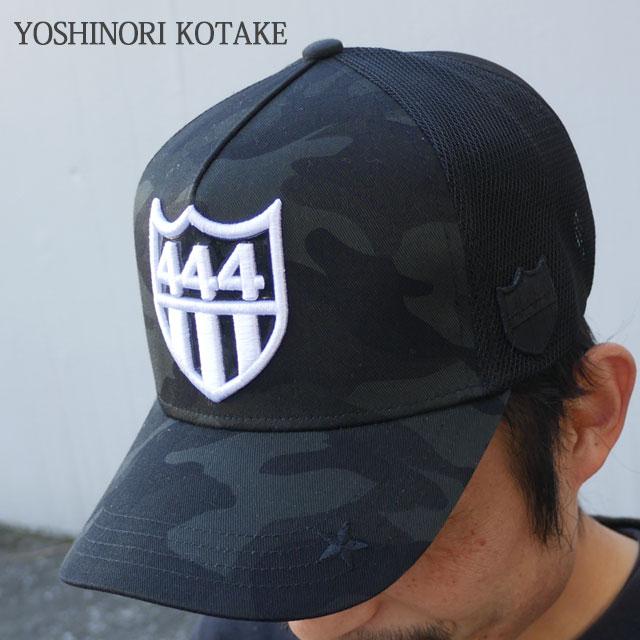 [バーニーズニューヨーク限定モデル]YOSHINORI KOTAKE(ヨシノリコタケ) x BARNEYS NEWYORK(バーニーズ ニューヨーク) 444ロゴ エナメル メッシュキャップ (CAP) BLACK 251-000978-011+【新品】