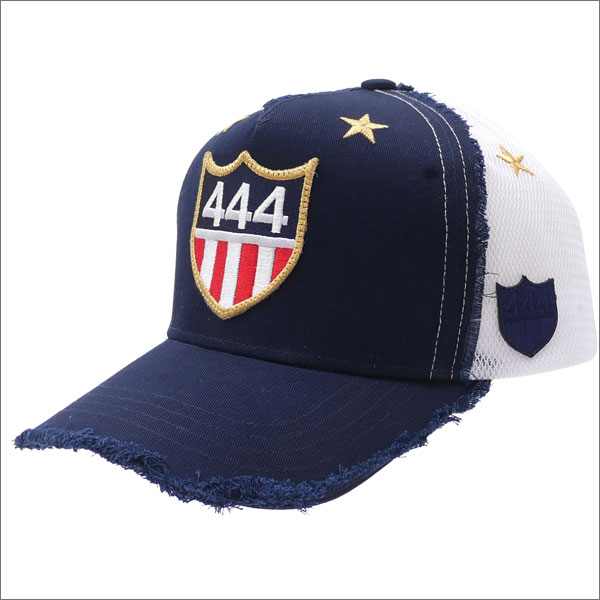 YOSHINORI KOTAKE(ヨシノリコタケ) 444 LOGO STAR MESH CAP (キャップ) NAVY 251-001118-017x【新品】