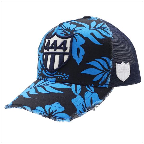ヨシノリコタケ YOSHINORI KOTAKE 444 LOGO ALOHA MESH CAP キャップ BLACK 251001133011 【新品】