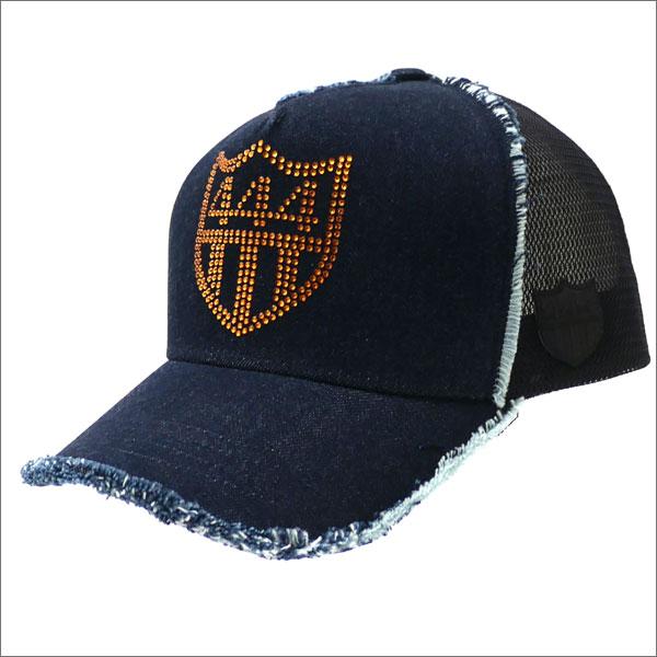 YOSHINORI KOTAKE(ヨシノリコタケ) SWAROVSKI 444 DENIM MESH CAP (キャップ) INDIGO 251-001185-017x【新品】
