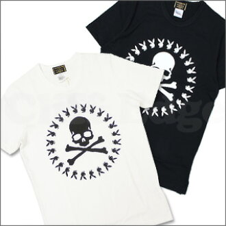 mastermind JAPAN (mastermind Japan) x Playboy ( Playboy ) x 8 THEATER (theater affiliate) SKULL RABBIT CIRCLE logo T shirt 200-004326-040-