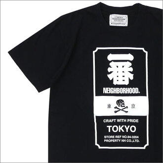 NEIGHBORHOOD (Ney bar Hood) ICHIBAN/C-TEE.SS (T-shirt) 171PCNH-ST07S BLACK 200-007472-041x