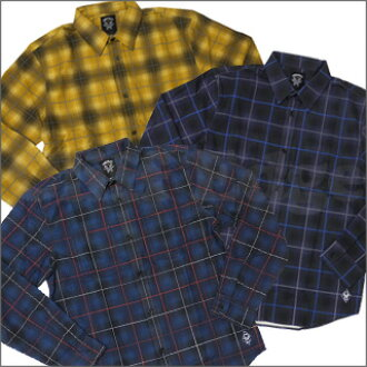 "NEIGHBORHOOD(네이버후드) x STUSSY(스테시) ""BONEYARDS II"" BY CONSPIRACY HOMBRE FLANNEL 긴소매 셔츠216-000474-058-"