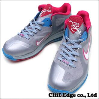 NIKE LEBRON 9 LOW  shoes   sneakers  WLF GREY WHITE-DYNAMIC BLUE-FIREBERRY  510 76416c2073