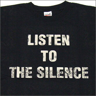 NUMBER (N) INE (number nine) LISTEN TO THE SILENCE T shirt BLACKxWHITE